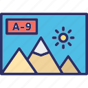 a to 9, album, landscape, landscape a 9 icon
