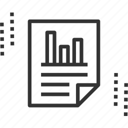 business, document, lock, private, report, statistics icon