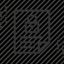 confidential, credentials, lock, privacy, report, secret icon