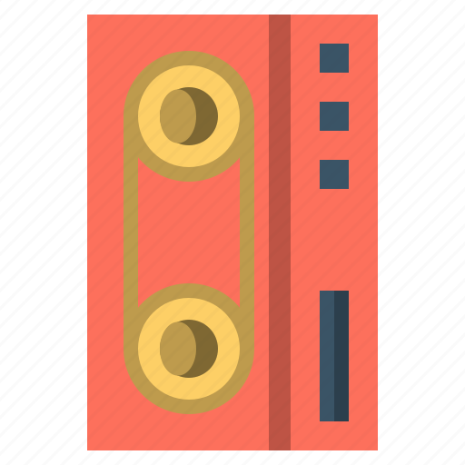 audio, cassette, communications, multimedia, musical, tape, technology icon