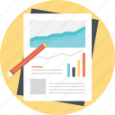 business report, growing graph, profit graph, stock exchange icon