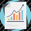 growth analysis, increase diagram, market research, progressive graph, survey bar chart icon