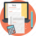 accounting, auditing, financing, tax calculation, taxation icon