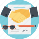 business deal, business partnership, agreement, contract, business handshake