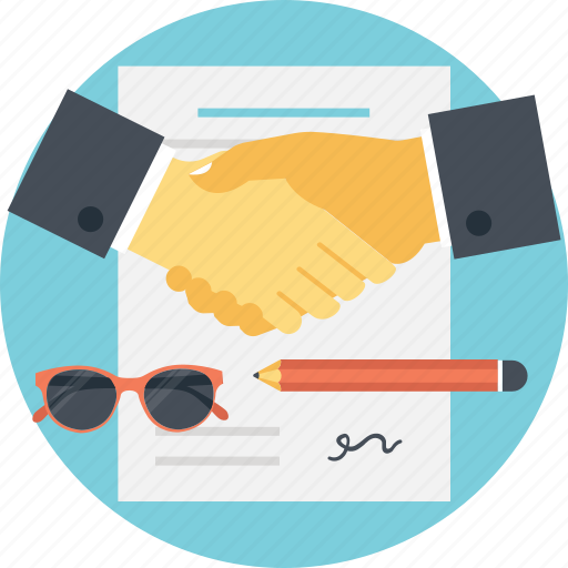 agreement, business deal, business handshake, business partnership, contract icon