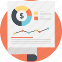 analytics, business analysis, financial report, statistical report, success graph icon