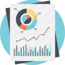 business analysis, financial document, financial graph, graph analysis, market research icon