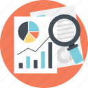 big data analysis, business report, data analysis, productivity analysis, statistical monitoring icon