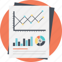 financial chart, financial statistics, graph analysis, market research, statistical data icon