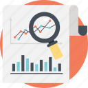 business analytics, forecast report, gain and loss, predictive analysis, statistical data icon