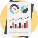 business analysis, charts and graph, financial calculation, predictive analytics, statistic information icon