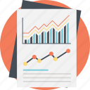 business analytics, business growth, financial increase, line graph analysis, statistical analysis icon