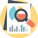 business planning, data analytics, financial report, pie chart analysis, statistical monitoring icon