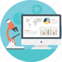 analytic dashboard, business analysis, business research, market research, marketing strategy icon