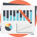 account analytics, business budget, data analysis, market analysis, research report icon