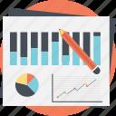 account analytics, business budget, data analysis, market analysis, research report icon