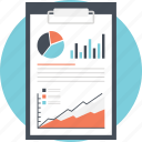 analytics, big data monitoring, business analysis, financial planning, statistical report icon