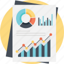 analytical report, business analysis, financial report, market analysis, market research icon
