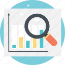 bar chart analysis, financial graph analysis, growth analysis, profit symbol, statistic report icon