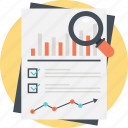 charts and graphs, growth report, market infographic, marketing analysis, sales analysis icon
