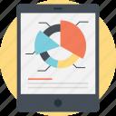 business statistics, circular diagram, data analysis, pie chart analysis, survey graph icon