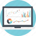 dashboard, data analytics, graphs and charts, online business reports, web analysis icon