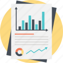 big data monitoring, business analysis, chart analytics, financial planning, statistical report icon