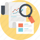 analytics, business analysis, business report, market research, statistic report icon