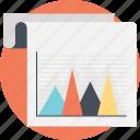 finance analytics, marketing model, performance presentation, project report, triangular chart icon