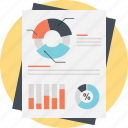 analytical report, business dashboard, document with graphs, financial report, statistic analysis icon