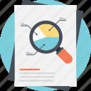 business analytics, chart data survey, growth analysis, pie chart analysis, statistic strategy icon