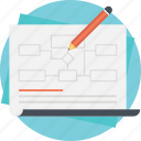 business model, business presentation, business success planning, drafting, management diagram icon