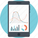 business monitoring, data analysis, gain loss analysis, mobile analytics, statistical report icon