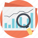 barchart analysis, data analysis, finance graph, forex trading, statistical report icon
