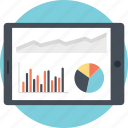analytical research, business chart, finance graph, marketing research, mobile analytics icon