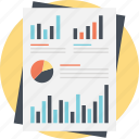business data, charts and graph, financial chart, investment chart, statistical element icon