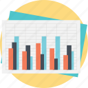 activity chart, business chart, data analysis, presentation template, statistic graph icon