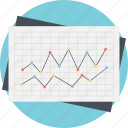 business analytics, forecast report, gain and loss, prediction model, statistical data icon