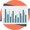 activity chart, business analysis, business chart, data analysis, statistic graph icon