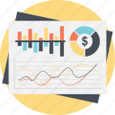 business progress, economy analytics, financial chart, infographic presentation, statistic analysis icon