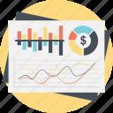 infographic presentation, economy analytics, business progress, financial chart, statistic analysis icon