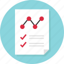 analytics, business, check, document, mark, page, report icon