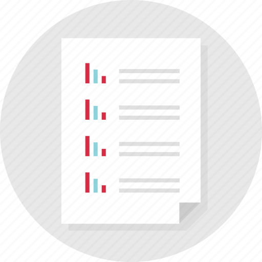 bars, business, data, document, list, page, report icon