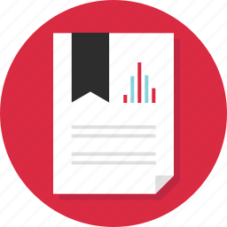 bookmark, data, doc, document, important, page, report icon
