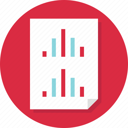 analyze, data, doc, document, page, report icon