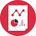 data, doc, document, graph, page, report icon