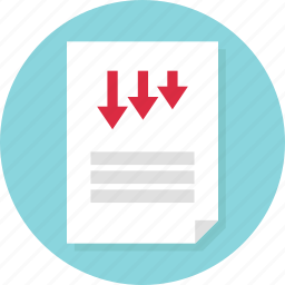 data, doc, document, low, page, report, sales icon