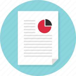 bars, business, data, document, page, report icon