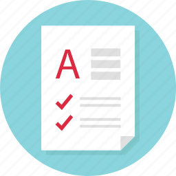a, business, check, document, marks, page, report icon