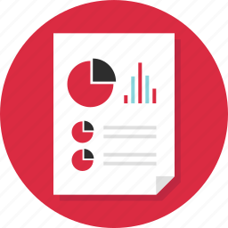 business, chart, data, document, page, pie, report icon